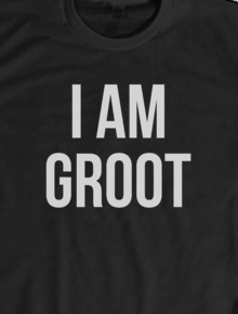 I AM GROOT,Guardians of The Galaxy, Character, Superheroes, Groot, Vector, Art, Typography