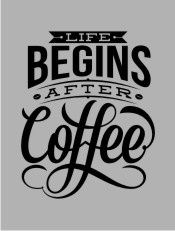 Life Begins After Coffee,typography, tipografi, kopi, coffee, twicolabs