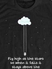 Fly High,clouds,star,angkasa,moon,bintang,harapan,quote