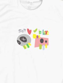 Skull in Love,Geek, vintage, Caballo, funny, cool, gaul, keren, lucu, casual