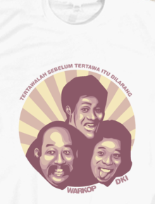 Warkop DKI,warkop, dki, retro, indonesia, vector