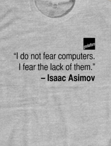 Quote Series - Isaac Asimov,Isaac Asimov, quote, computer, future
