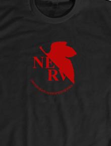 Original NERV T-shirt,kaos, anime, evangelion, rei, asuka, manga, jepang