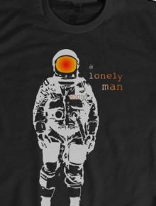 Alone,astronot, sci fi, luar angkasa, space, pesawat, terbang, humor, geek, ilustrasi, unik