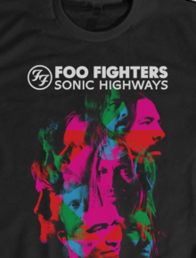 FOO FIGHTER T-SHIRT 064,FOO FIGHTERS , ROCK BAND , MUSIC