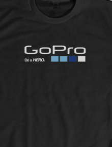 GoPRo T-Shirt Black,gopro, action camera, drone