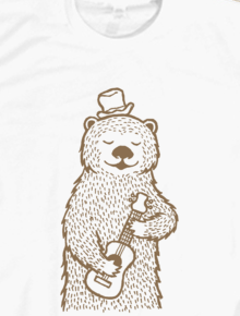 Country Bear,bear, music, doodle, country