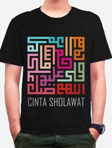 Cinta Sholawat,kaligrafi, sholawat, islam, pelangi