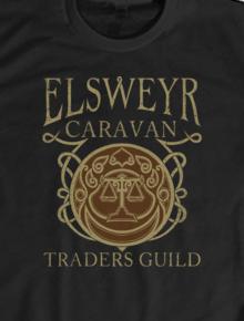 Elsweyr Traders Guild,cool, geek, nerd, gaming, vector, the elder scrolls, skyrim, elsweyr, khajiit
