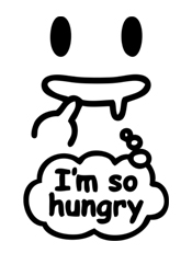 I am so Hungry,cute, lucu, simple, clean, minimalis, desain, kucing, imut, cool, tshirt, kaos, smile, senyum, face, halloween, hello kitty, panda, cat, dog