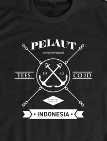 Pelaut,Pelaut, Indonesia, Vintage, Tees