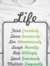 Be Life,t-shirt, tees, boys, girls, illustration, design, typography, art