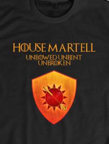 House Martell,game of thrones, house martell, sigil, geek, nerd, stark, targaryen, martell