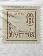 Stamp,juventus, juve, football, italy, bianconeri, stamp, postage, illustration