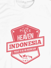 Indonesia A Little Piece of Heaven Long Sleeves,Indonesia, Nasional, Surga, Retro, Vintage, Typhografi
