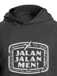 Jalan Jalan Men Hoodie,jalan jalan men, traveling, malesbanget