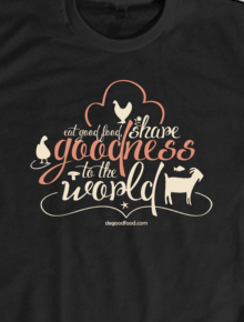 Vegan Tshirt_Share Goodness to The World,Vegan, vegetarian, animal lover, environment, lingkungan, earth, peace, health, eat, good, food, share, goodness, world