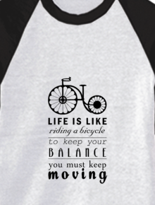 Keep Moving,bicycle, moving, quotes, typo