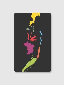 Ind Map Card,indonesia, peta, cardsticker