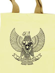 garuda tote,indonesia, tipografi, nasionalisme, warna, semangat