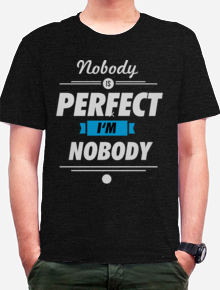 I am Nobody,Nobody, perfect, i am, nobody, no body perfect I'm no body