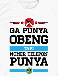 Gak Punya Obeng,teepografi