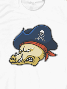 Pirate Hogs,wild, hogs, pirate, bajak laut, evil, babi, babi hutan, vector art, pop art