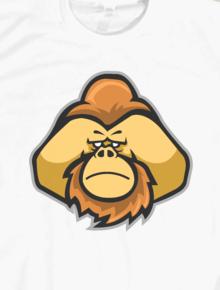 Orangutans head,orangutan, satwa, primata, vector art, pop art