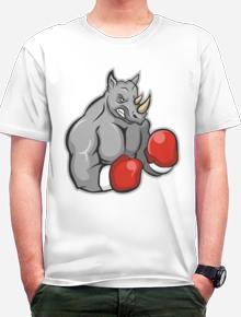 Rhino Boxer,rhino, badak, tinju, petinju, sport, olahraga, boxer