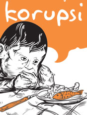 Susah Makan,vector,indonesia,korupsi,nasionalisme, ma'af, mama, papa, adek, makan, korupsi