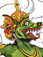 Naga Raja,vector,indonesia,wayang,illustrasi,Mythologi,Budaya