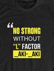 L Factor,L Factor, Laki-laki, Aki-Aki, Kaos Hitam, Kaos Polos, T-shirt
