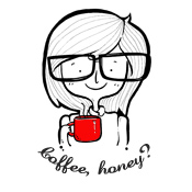 coffee honey,doodle, drawing, ilustrasi, coffee, kopi