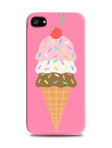 Ice Cream,Ice cream,case,pink,cute,girl,classy,simple