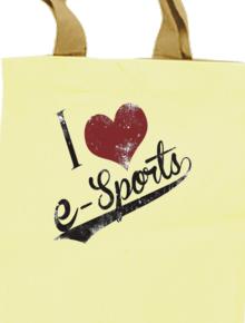 I love e-sports,league of legends tote bag , merchandise , quote