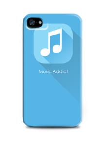 Flat Icon - Blue Music Addict,flat icon, music, blue, biru, icon,