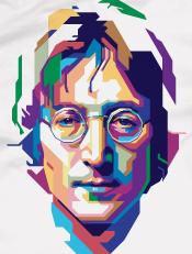 John Lennon,illustrasi, pop art, wpap, musik, tokoh