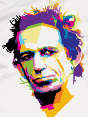 Keith Richards,illustrasi, pop art, wpap, musik, tokoh