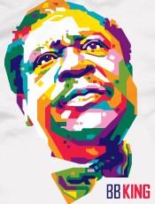 B B King,illustrasi, pop art, wpap, musik, tokoh