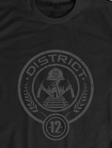 Hunger Games District 12 Logo,hunger games, catching fire, mockingjay, district 12, kaos distro, kaos murah
